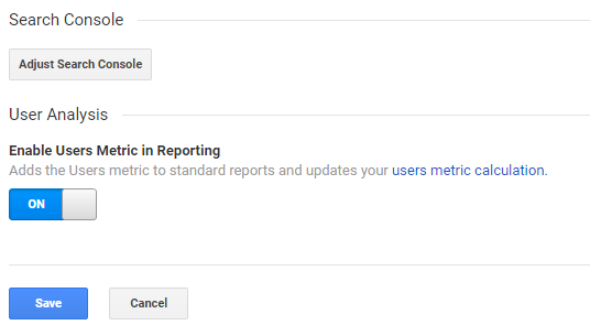 Adjust search console